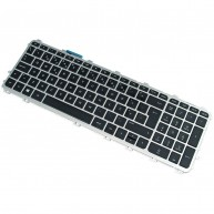 720244-131 HP Keyboard Portuguese Backlit Black w/Frame 721966-131 (N)
