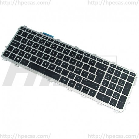 720244-131 HP Keyboard Portuguese Backlit Black w/Frame 721966-131 (N)