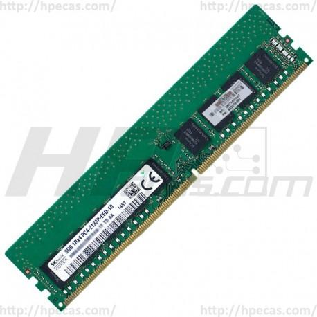 HPE Memória 8GB 1RX8 PC4-17000 DDR4-2133P-E UNBUFFERED CL15 ECC 1.20V STD (819880-B21, 823170-001, 803660-091) N