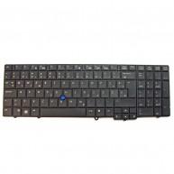 """HP Teclado Esloveno 15.6"""" Preto PS (595790-BA1, 604606-BA1) N"""