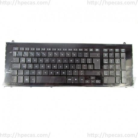 "598692-031 HP Teclado Inglês UK 17.3"" Preto FRAME 611042-031 (N)"