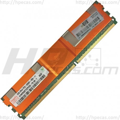 416472-001 HP 2GB (1X2GB) 2Rx4 PC2-5300F-5 DDR2-667 Registered CL5 ECC FB 1.8V STD 398707-051 (N)