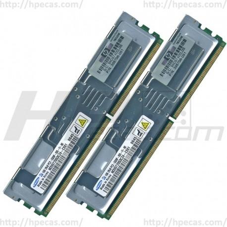 397411-B21 HP 2GB (2X1GB) 2Rx8 PC2-5300F-5 DDR2-667 Registered CL5 ECC FB 1.8V STD 416472-001 (N)