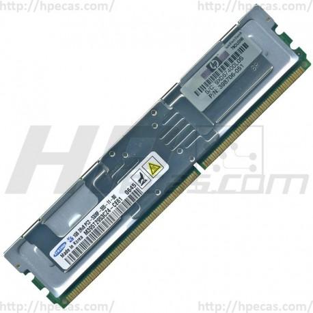 416471-001 HP 1GB (1X1GB) 2Rx8 PC2-5300F-5 DDR2-667 Registered CL5 ECC FB 1.8V STD 398706-051 (N)