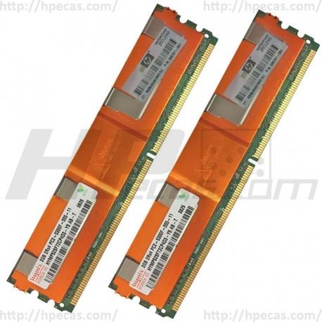 397413-B21 HP 4GB (2X2GB) 2Rx4 PC2-5300F-5 DDR2-667 Registered CL5 ECC FB 1.8V STD 416472-001 (R)