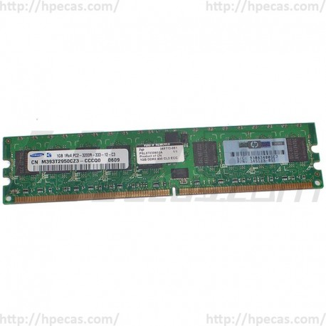 359242-001 HP 1GB (1X1GB) 1Rx4 PC2-3200R DDR2-400 Registered CL3 ECC 1.8V STD 413385-001 (N)