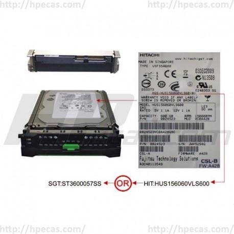 Fujitsu 600GB 6GBs 15K SAS 3.5 LFF HP ENT Caddy HDD 0B24523 38012054 9FN066-040 HUS156045LVS600 S26361-F4005-L560 ST3600057SS