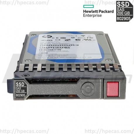 "HP 200GB 12GB/s DP SAS 2.5"" SFF HS WI SC G8-G9 SSD 802578-B21 / 802578-S21 / 802905-001 (N)"