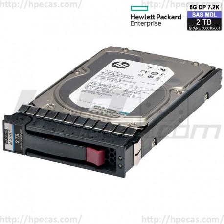 "HP 2TB 6GB/s 7.2K DP SAS 3.5"" LFF HS MDL G1-G7 HDD (507616-B21 / 508010-001 / 638521-001) N"