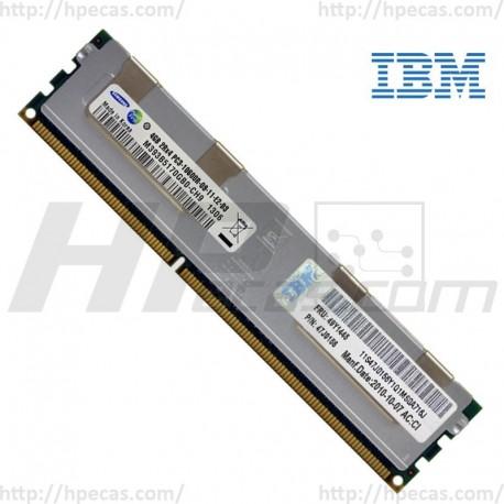 IBM 4GB (1X4GB) 2Rx4 PC3-10600 DDR3-1333 RDIMM CL9 ECC 1.5V STD (47J0156 / 49Y1435 / 49Y1445) R