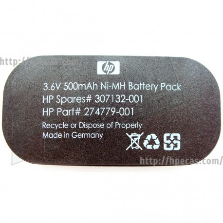 HPE Smart Array Battery Backed Write Cache (BBWC) 3.6V Battery Pack assembly (274779-001, 307132-001) N