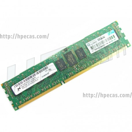 HP 4GB (1X4GB) 1Rx4 PC3-10600 DDR3-1333 Registered CL9 ECC 1.5V STD