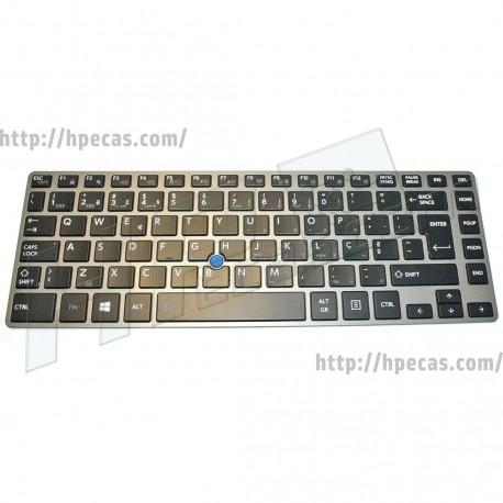 Teclado Toshiba Tecra Z40 Portugues Retro-iluminado Com Pointer Stick (P000595220)