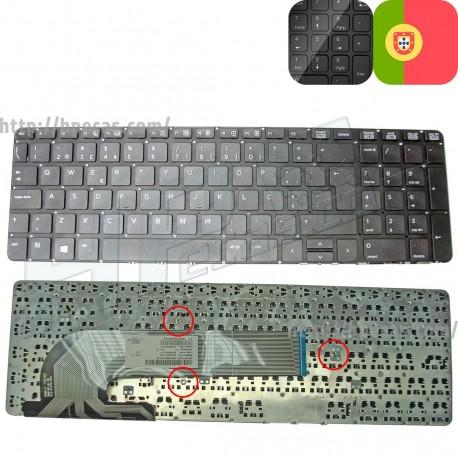 Teclado HP ProBook 450, 455, 470 sem Frame sem Backlit Português (721953-131, 727682-131)