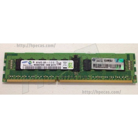 Memória Original HP 4GB 1rx4 PC3-12800 REG/ECC CL11 (664689-001)