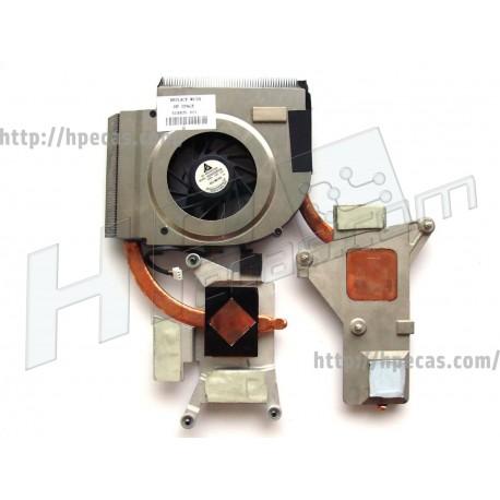 Heatsink + Ventoinha HP Pavilion DV6-1000 série CPU INTEL (514350-001, 518435-001, KSB0505HA-8J75, ROB 9AJ-6P)