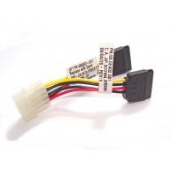 Cabo 15cm para converter 1 Molex para 2 Sata (33299 / 456853-001 / 457899-001 / 50.5E402.001 / CC-SATA-PSY / GB 3198 / TM 3197)