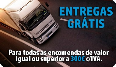 Entregas Grátis para encomendas superiores a 300€ c/IVA